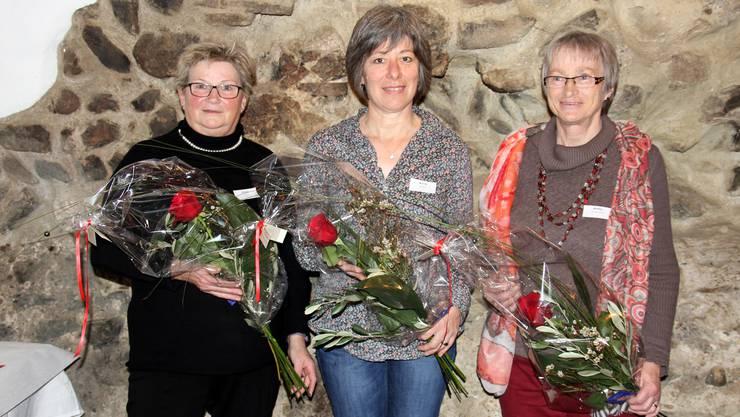 Die 3 Jubilarinnen vom Verein EFG-ED, Entlastungsdienst Solothurn