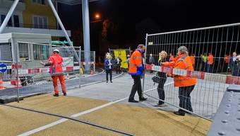 Die dreimonatige Vollsperrung des Grenzübergangs bei Koblenz ist am Montagmorgen aufgehoben worden.