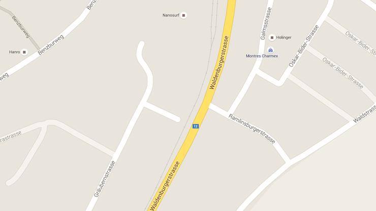 Das Kind rannte auf die Waldenburgerstrasse Höhe Ramlinsburgerstrasse.