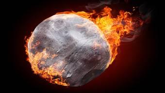 Ein Meteorit beim  Eintritt in die Erdatmosphäre.