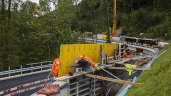 Strassenbauarbeiten Passwangstrasse Abschnitt Schiltloch
