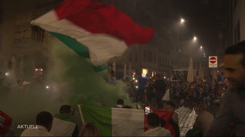 Massvoll jubeln: Die Kapo Aargau stellt für Italien-Fans für heute Abend klare Regeln auf