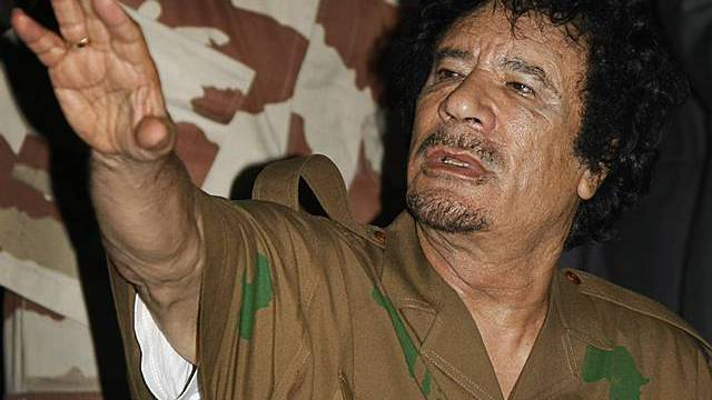 Der libysche Staatschef Gaddafi (Archiv)