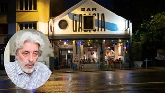 Pierino Orfei verunfallte in der Galicia Bar.