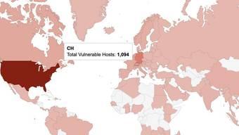 Auch in der Schweiz sind um die tausend Server potenziell betroffen.