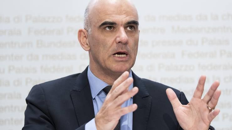 Gesundheitsminister Alain Berset stellte die neue Gesundheitsstrategie des Bundes vor. (Archivbild)