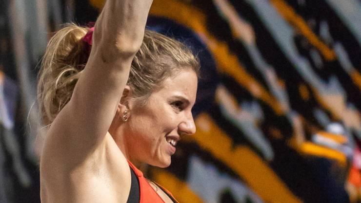 Petra Klingler hat als Sportkletterin sprichwörtlich hohe Ziele
