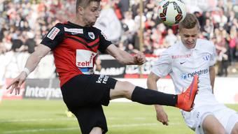 Zuletzt spielte Stephan Andrist (li.) in der Schweiz beim FC Aarau
