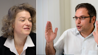 Kantonsrichter Enrico Rosa überwacht die Erste Staatsanwältin Angela Weirich – noch, denn Rosa wird das Gremium verlassen.