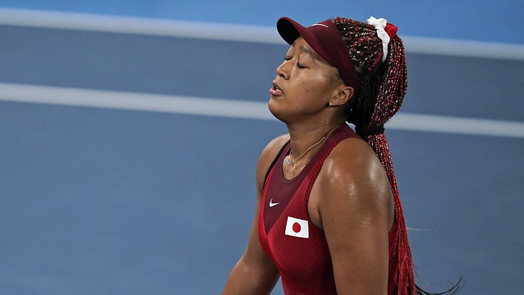 Naomi Osaka erlebt an den Olympischen Spielen in der Heimat einen Tag zum Vergessen