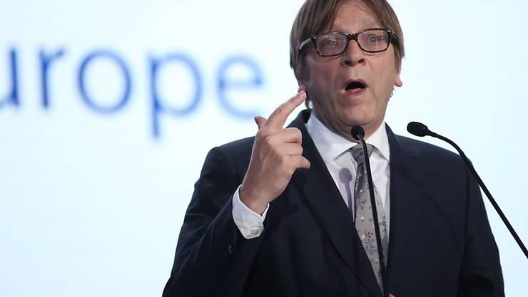 Guy Verhofstadt kandidiert für die Liberalen-Fraktion für das Amt des EU-Parlamentspräsidenten.
