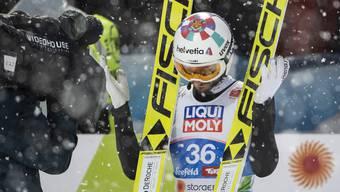 Killian Peier bleibt auf der Normalschanze ohne Medaille.