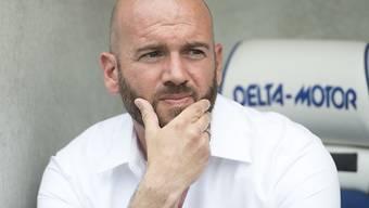 Nachdenklicher Vaduz-Trainer Roland Vrabec