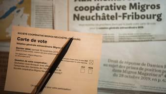 Die Genossenschafter der Migros Neuenburg-Freiburg konnten sich an einer Urabstimmung zur Abberufung der Genossenschaftsverwaltung äussern.