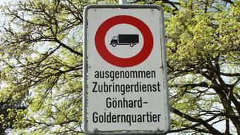 Nur noch Anwohner oder Zubringer – ab 1. Januar gibt es faktisch ein Fahrverbot für den Durchgangsverkehr im Gönhardquartier.