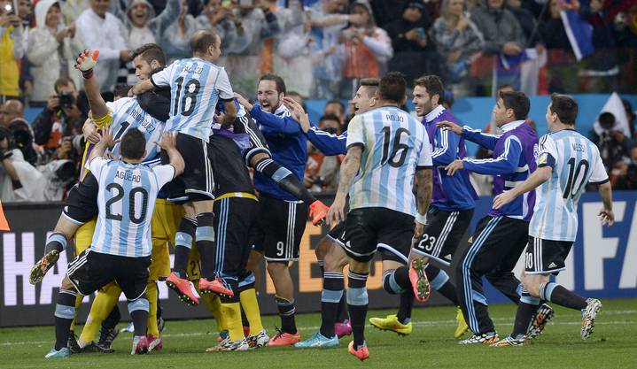 Jubel bei den Argentiniern nach dem Einzug ins WM-Finale