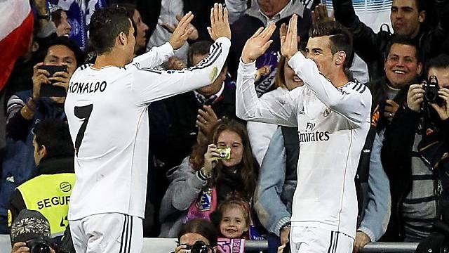 Cristiano Ronaldo und Gareth Bale erzielten 5 der 7 Tore für Real.