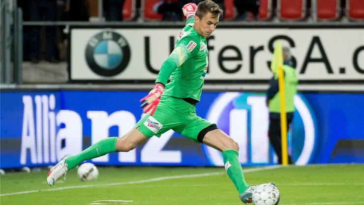 Der Vorzeigekämpfer des FC Aarau: Joël Mall zerreisst sich Spiel für Spiel für seinen Klub. Die Tore kann er aber nicht auch noch selber schiessen.