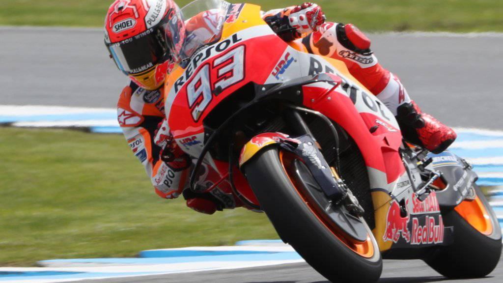 War in dieser Saison oft Sturzopfer: Marc Marquez, seit letztem Sonntag fünffacher MotoGP-Weltmeister
