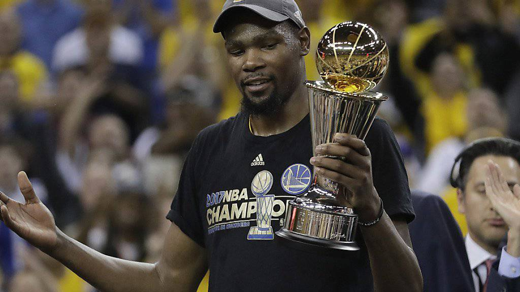 Kevin Durant feierte mit den Golden State Warriors seinen ersten NBA-Titel