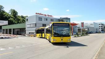 Gefährdet: Eine Ausschreibung der Buslinien würde die AAGL (im Bild der Liestaler Hauptsitz) wohl nicht überleben.