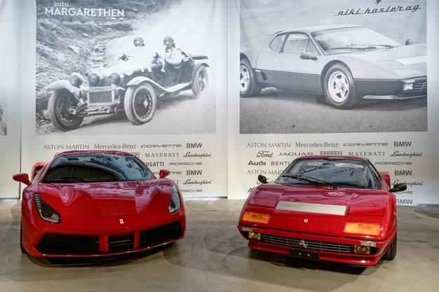 Ferrari (488 und 512, von oben)