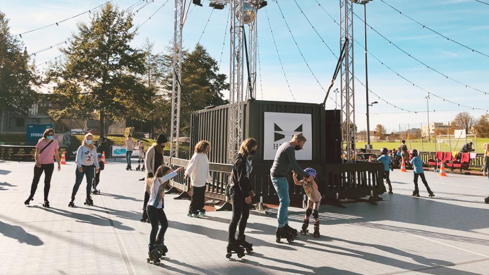 Mobiles Rollschuhfeld geplant: «Ältere können in Nostalgie schwelgen»