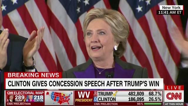 Clinton nach Niederlage: «Das ist schmerzhaft»