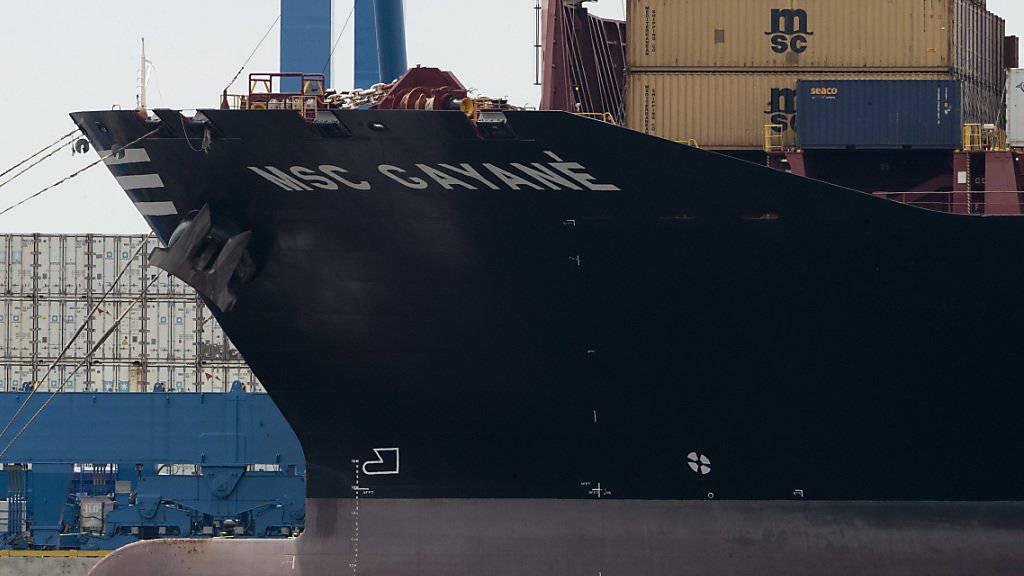 """Nach Informationen des Senders NBC News war die Drogenfracht in sieben Containern des Schiffs """"MSC Gayane"""" versteckt."""