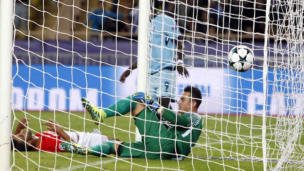 Der Schweizer Keeper Diego Benaglio kassierte mit Monaco gegen Marseille drei Tore
