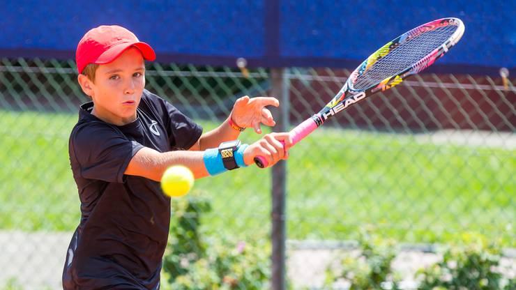 Lokalmatador Nicolas Kobelt musste sich bei den unter 14-Jährigen im Viertelfinale geschlagen geben.