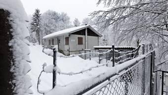 Der Eingang zur ehemaligen Bloodhound-Flab-Stellung auf dem Hällchöpfli bei Rumisberg