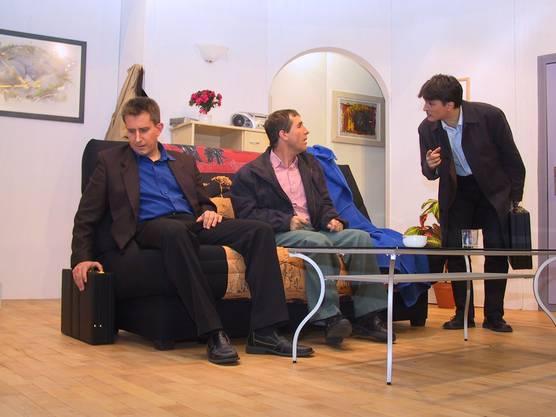 Das Stück Verruckts Gäld führte die Theatergruppe im Jahr 2004 auf (Bild Helen Busslinger)