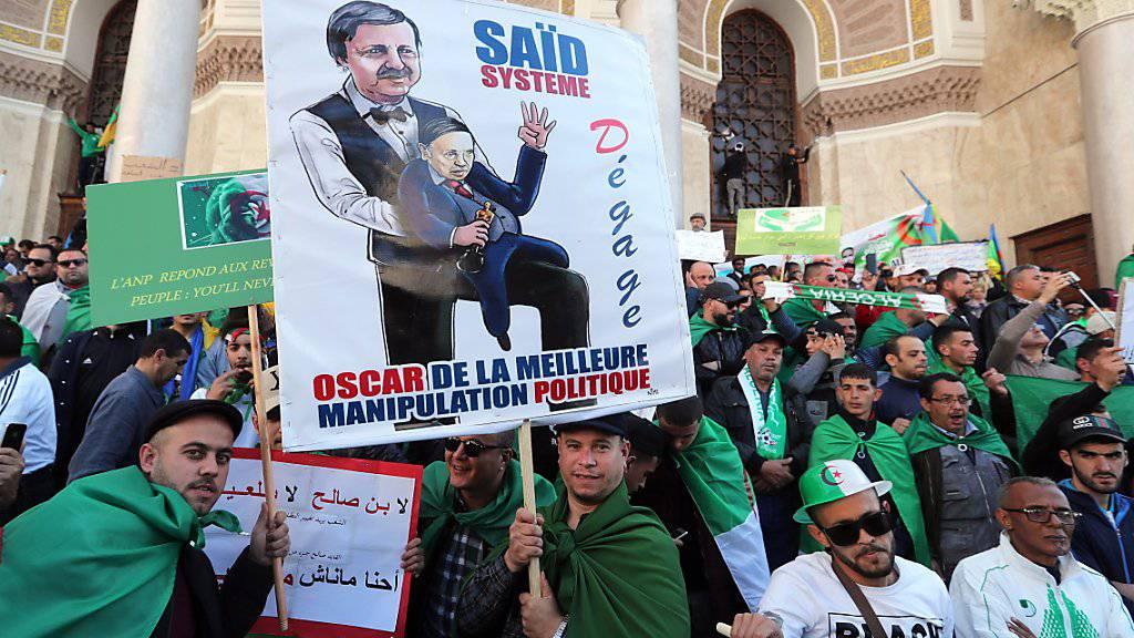 Erneut demonstrieren in Algerien Zehntausende gegen ihren «Marionetten-Präsidenten» Abdelaziz Bouteflika.