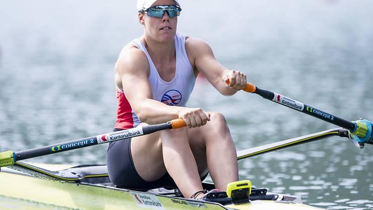 Skifferin Jeannine Gmelin strebt die nächste EM-Medaille an