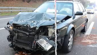 Heute Morgen kam es bei Augst auf der A2 gleich zu zwei Unfällen