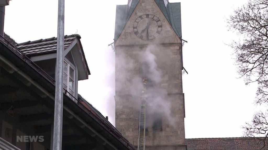 Ausgerechnet an Heiligabend brennt der Kirchturm