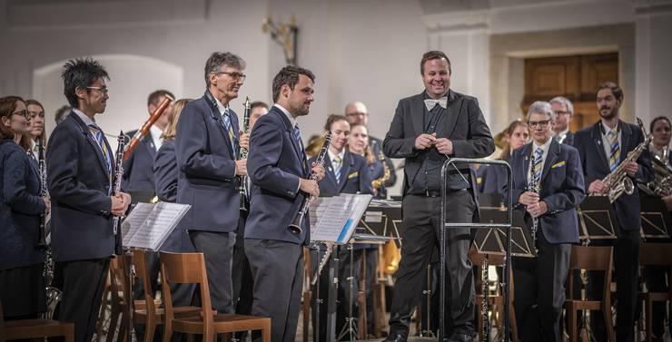 Zufriedene Gesichter bei der Stadtmusik Olten. (Foto: Celine Henriquez)