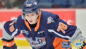 Brennan Othmann im Dress der Flint Firebirds.