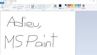 Das Grafikprogramm Paint von Microsoft ist am Ende.