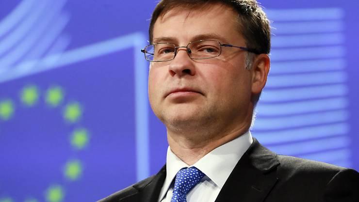 Der Christdemokrat Valdis Dombrovskis wird in der EU für Wirtschaft und Soziales zuständig. (Archivbild)