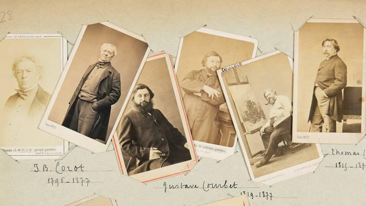 Porträts von Malern und Bildhauern, entstanden von 1860 bis 1875.