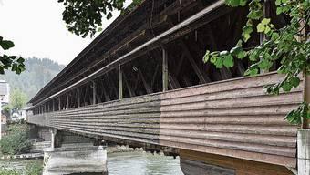 Wird derzeit genau inspiziert: die Aarebrücke.