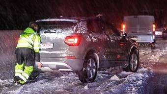 Starke Schneefälle haben in der Nacht auf Mittwoch in Südtirol und in Teilen Österreichs für Probleme gesorgt. Einige Strassen mussten wegen Gefahr durch umstürzende Bäume gesperrt werden, dazu kamen Abschnitte mit Schneekettenpflicht.
