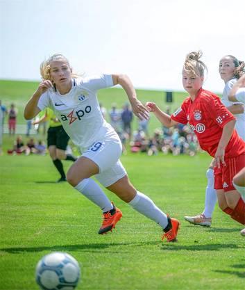 Leandra Flury (hier noch im FCZ-Trikot) begann als 5-Jährige beim FC Niederweningen und spielt seit August in den USA.