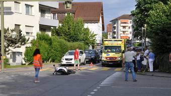 Unfall Dietikon Oberdorfstrasse Hasenbergstrasse