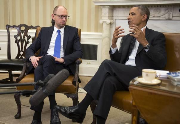 Obama versicherte Jazenjuk Beistand.