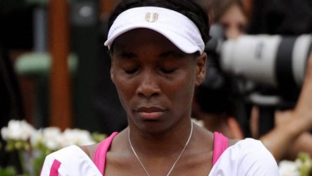 Die sichtlich enttäuschte Venus Williams
