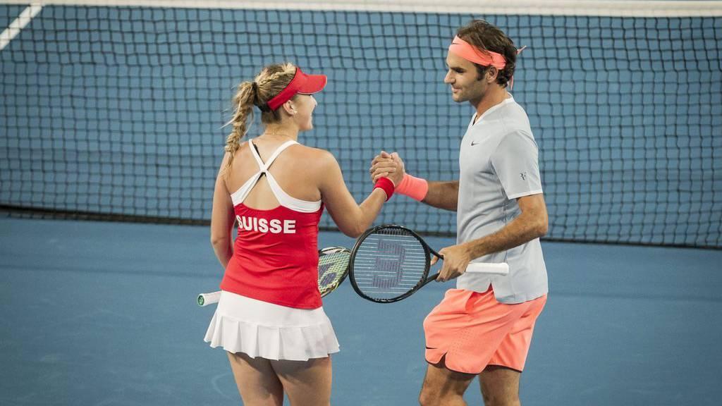 Das Duo Federer/Bencic gewinnt am Hopman Cup auch gegen Deutschland.