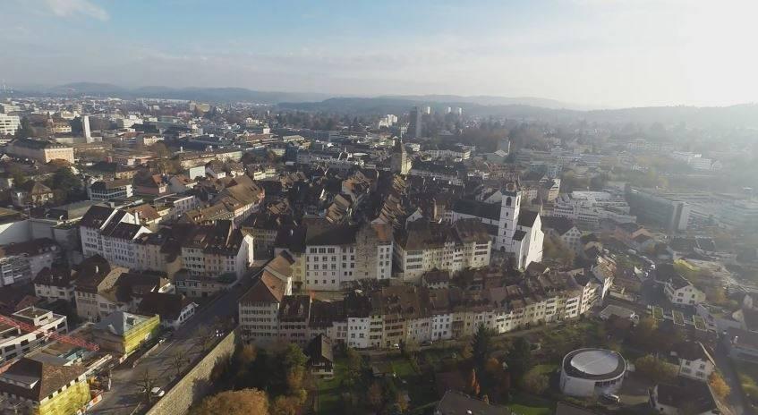 Aarau aus der Vogelperspektive. Das Video ist im vergangenen November entstanden.